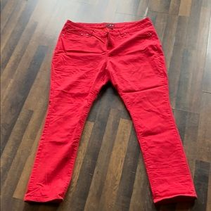 Dots red jeans size 24 curvy